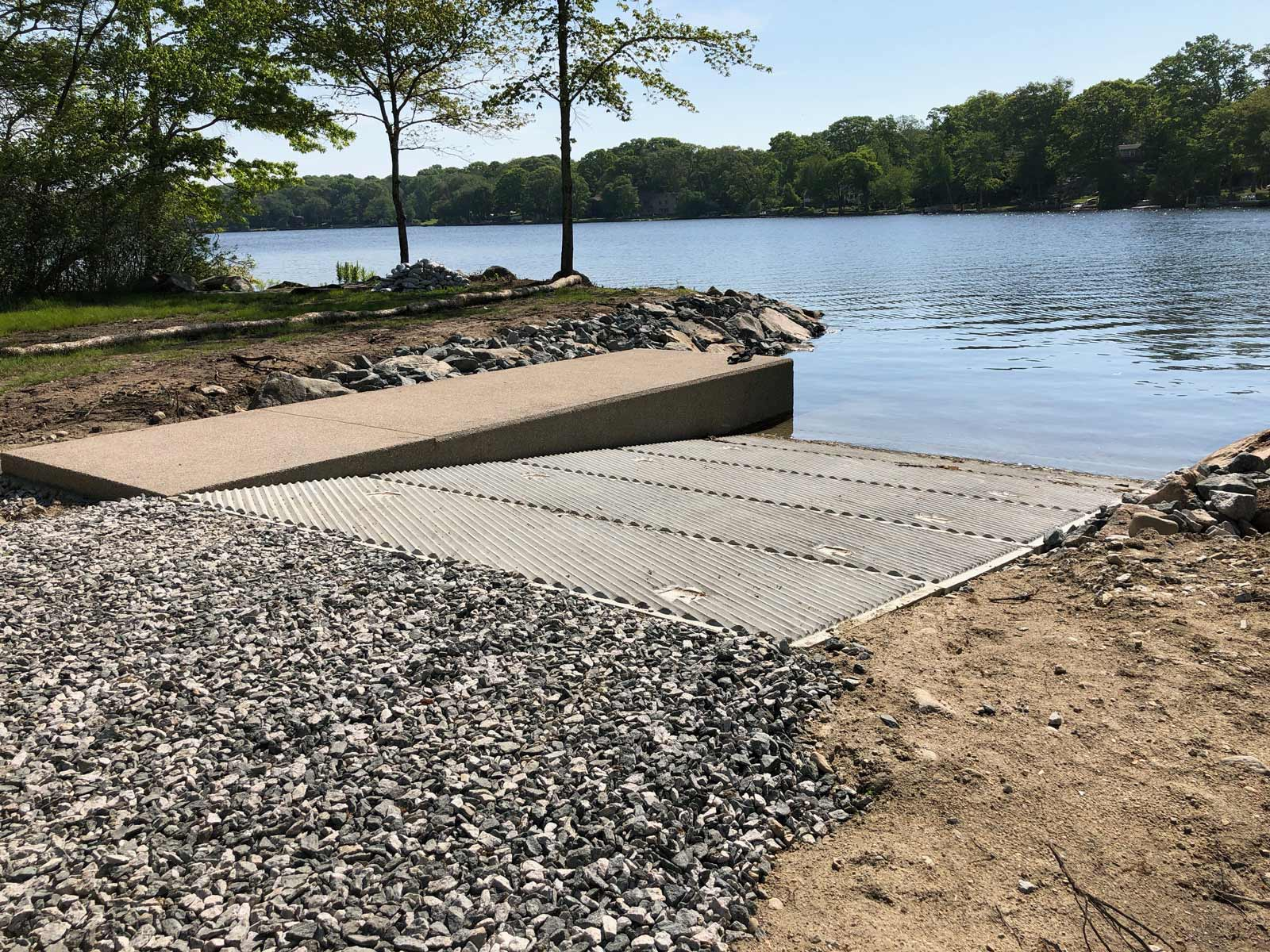 New Boat Ramp at Indian Lake